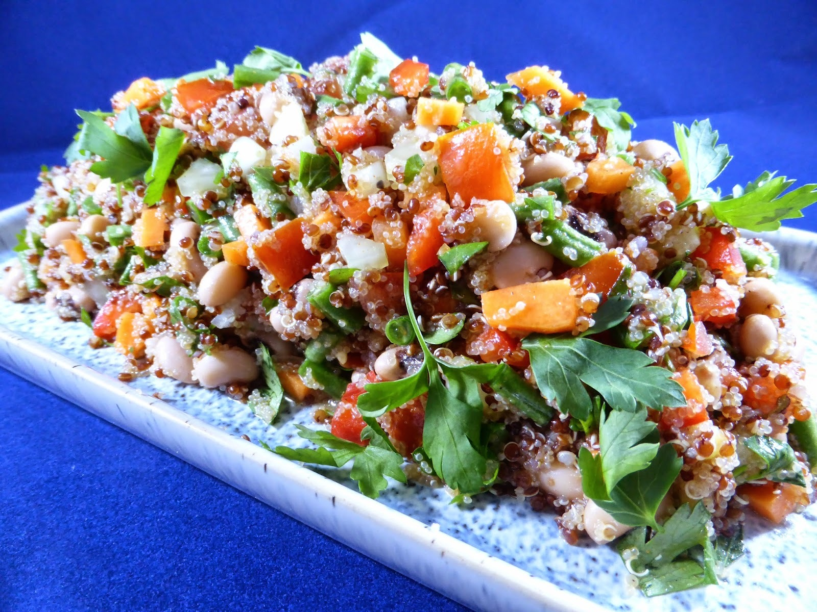 SUMA: Rocket & Roses Amaranth & Quinoa Cajun Vegetable Salad (vegan & gluten-free)