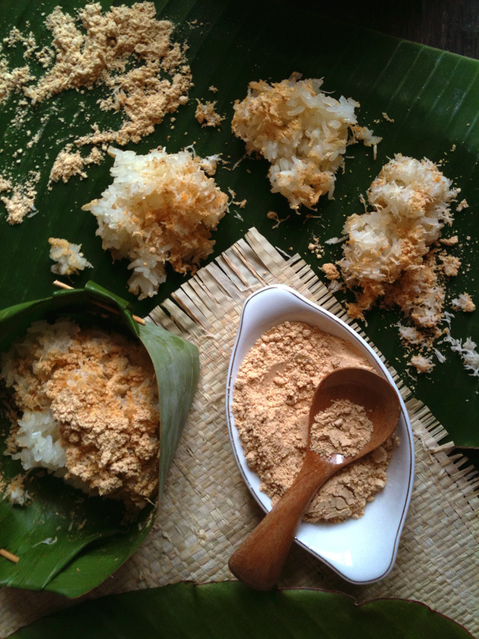 Ketan Bubuk / Java style glutinous rice in grated coconut and spiced soy powder