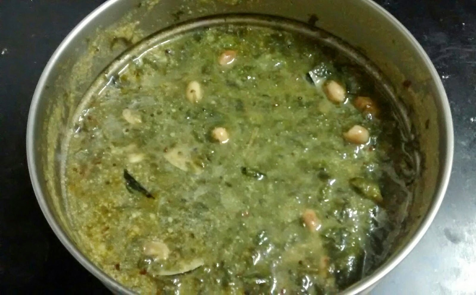Palakchi Patal Bhaji\ Spinach leaves curry