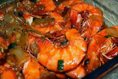 Prawns with Oyster Sauce