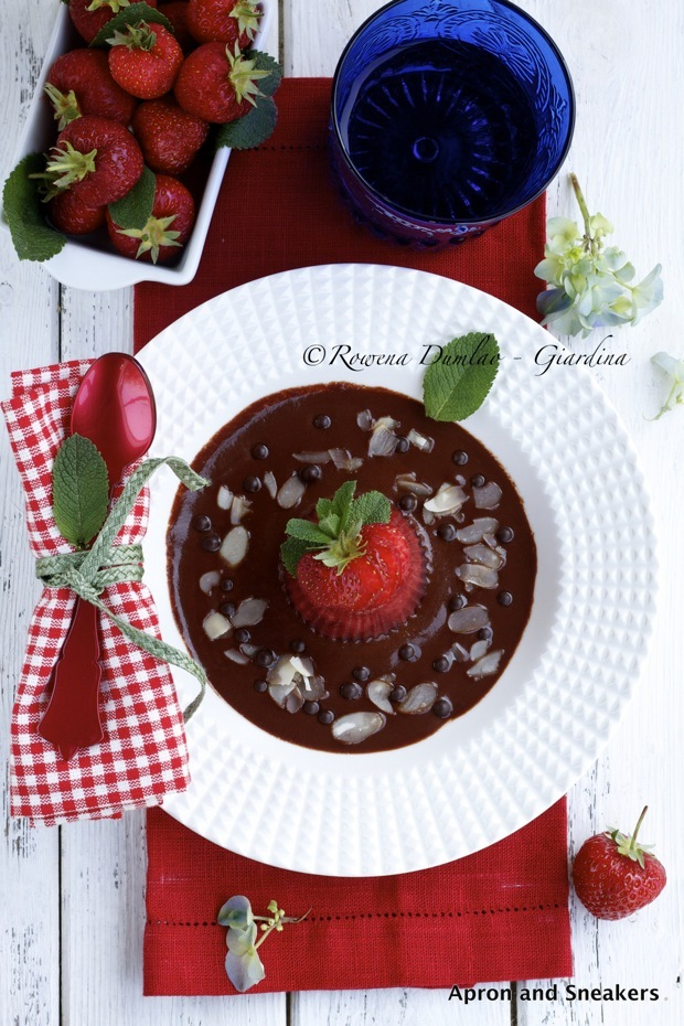 Strawberry Jelly in Chocolate Marsala Sauce