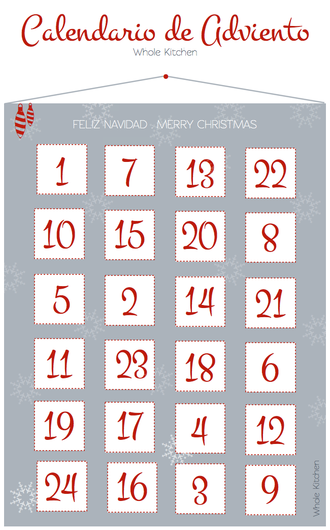 Calendario de Adviento Whole Kitchen (queda tan sólo 1 día)