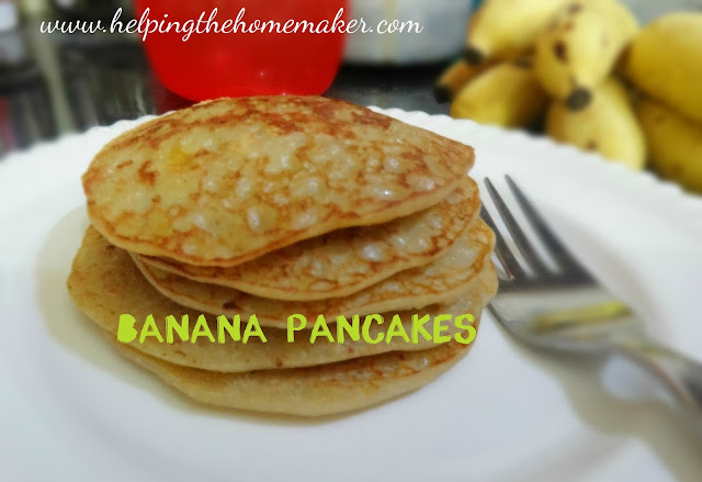 RECIPE: Eggless Banana Pancakes/Crepes - Breakfast Idea for Kids