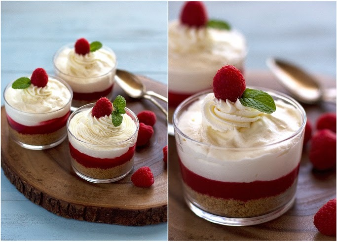 No Bake Cheesecake With Raspberry Sauce