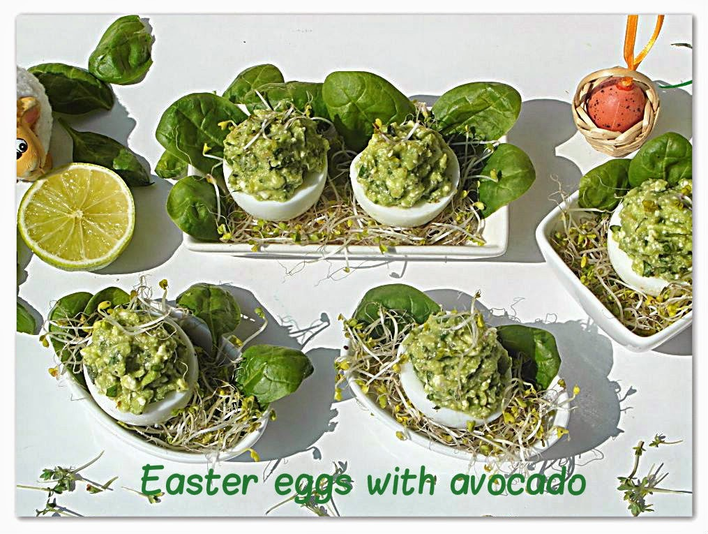 Wielkanocne jajka z awokado - Easter eggs with avocado
