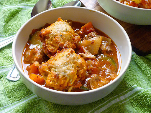 * Lamb Stew with Rosemary Dumplings