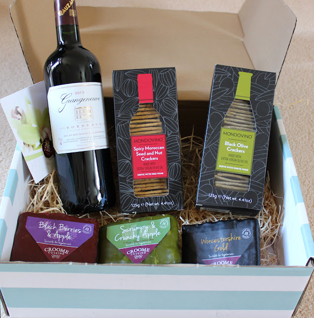 Cheese and Wine Hamper Review and Giveaway - Serenata Flowers