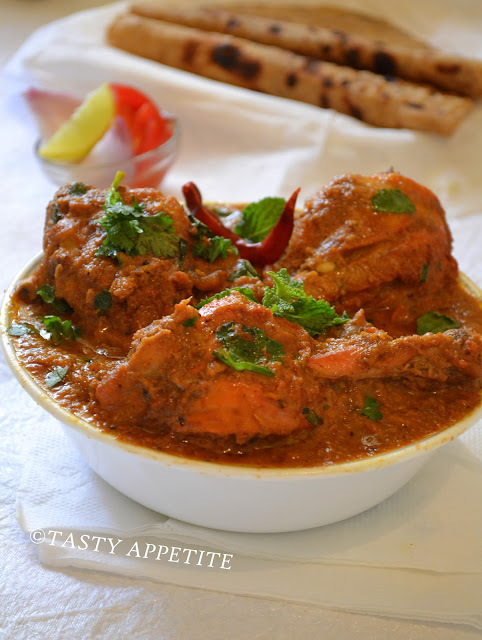 Kohlapuri Chicken  /  Easy step by step recipe: