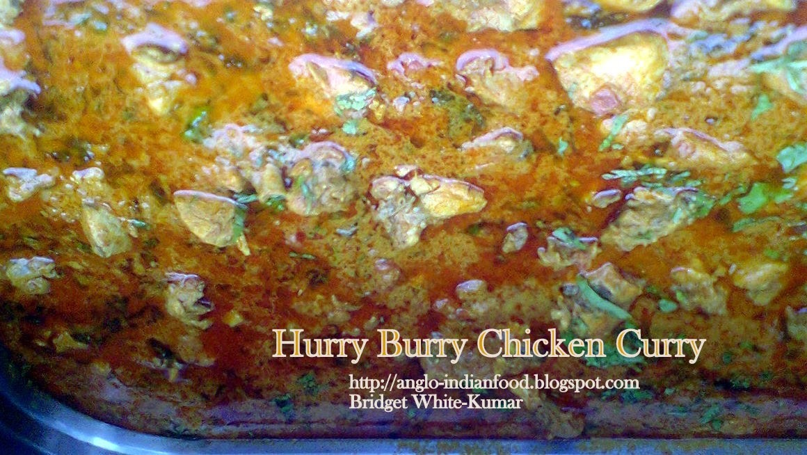 HURRY-BURRY CHICKEN CURRY OR CHICKEN CURRY IN A HURRY