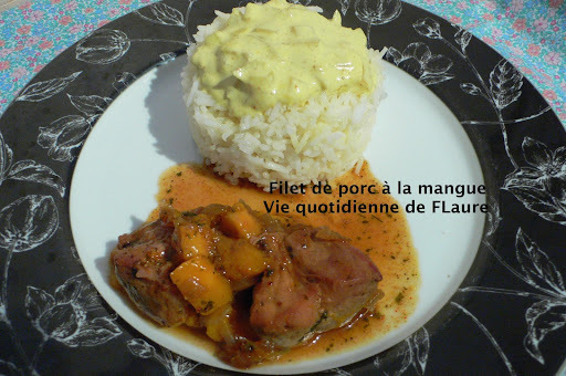 Filet de porc à la mangue