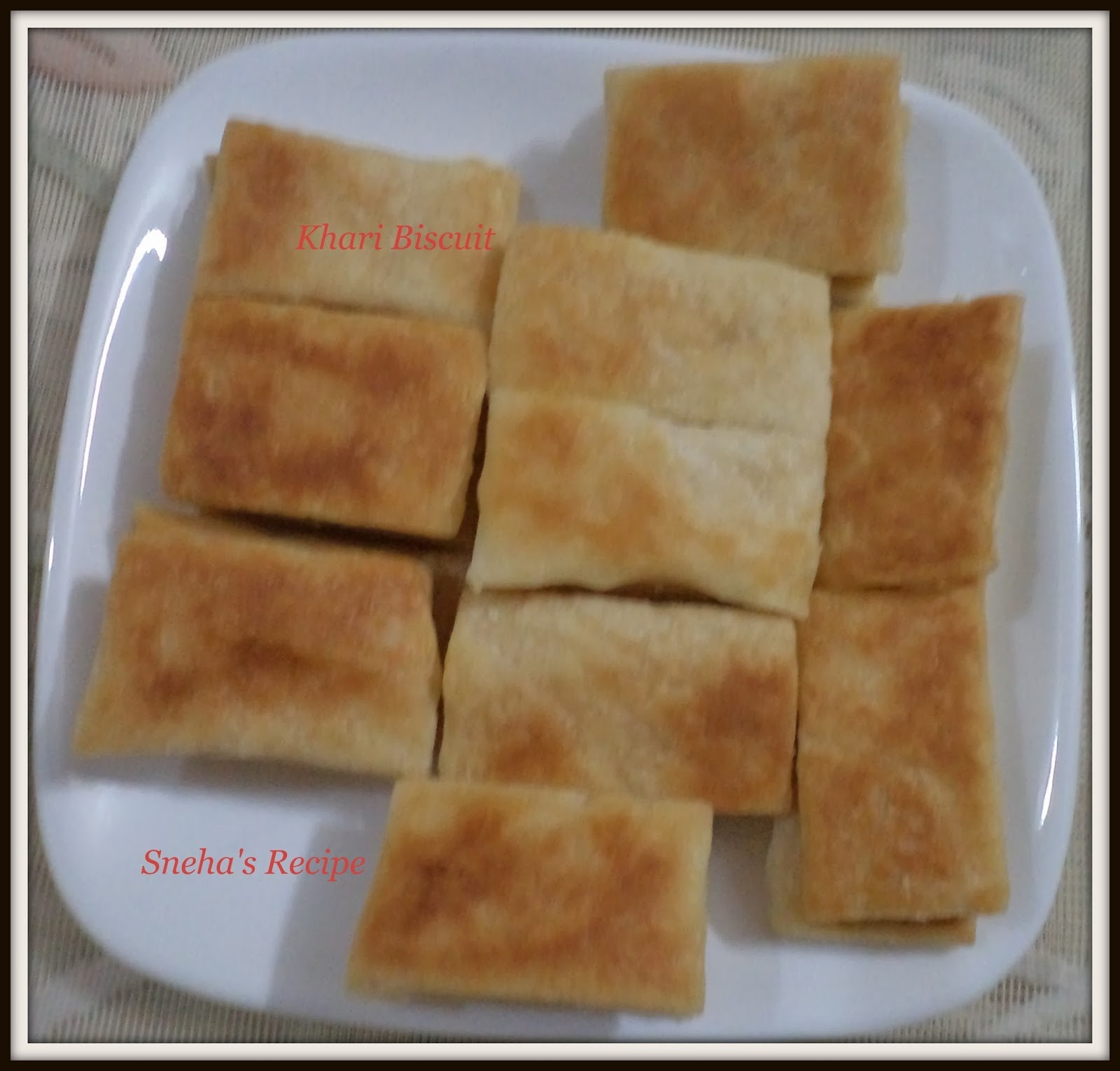 Khari Biscuits or Puff Biscuits