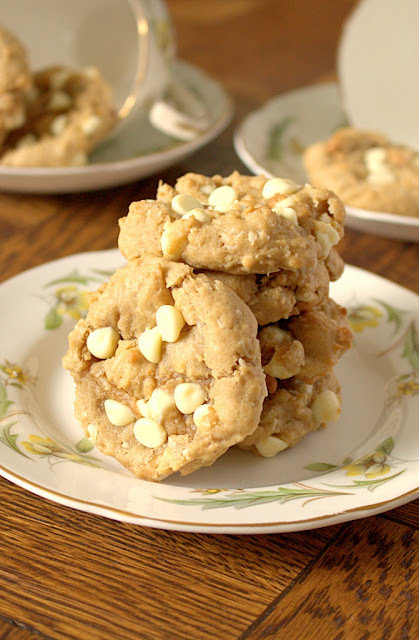 Coconut Cream Cheese White Chocolate Chip Cookies