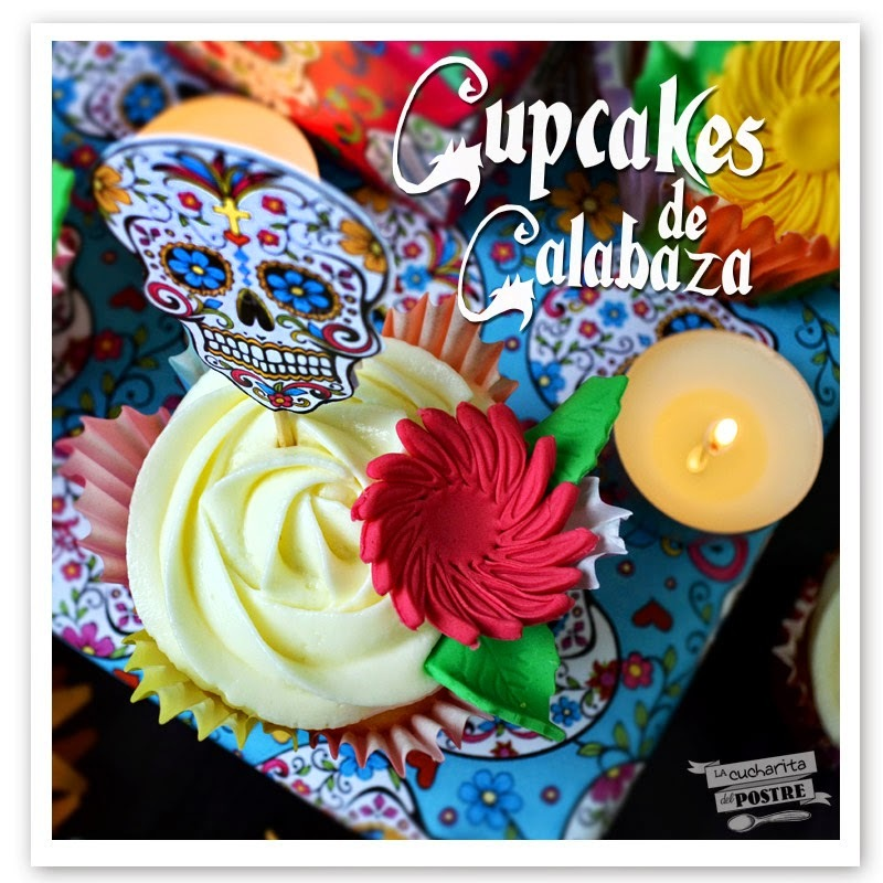 HALLOWEEN 2014: CUPCAKES DE CALABAZA Y NARANJA / PUMPKIN AND ORANGE CUPCAKES