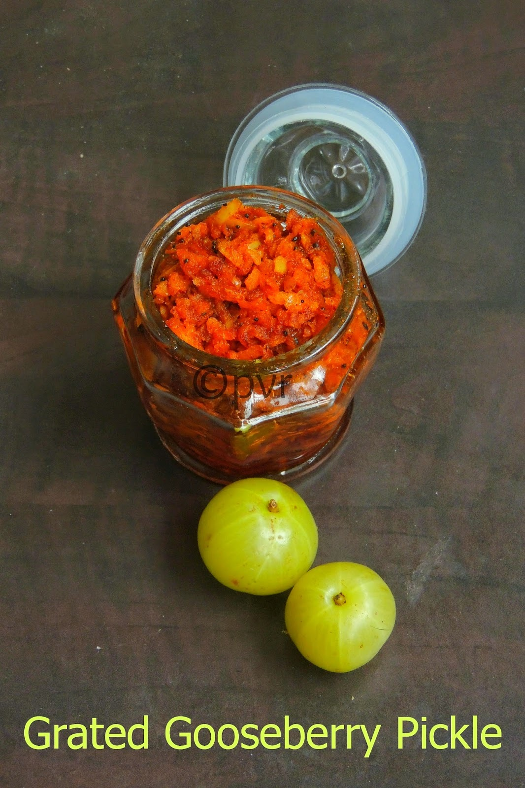 Grated Gooseberry Pickle/Instant Grated Amla Pickle