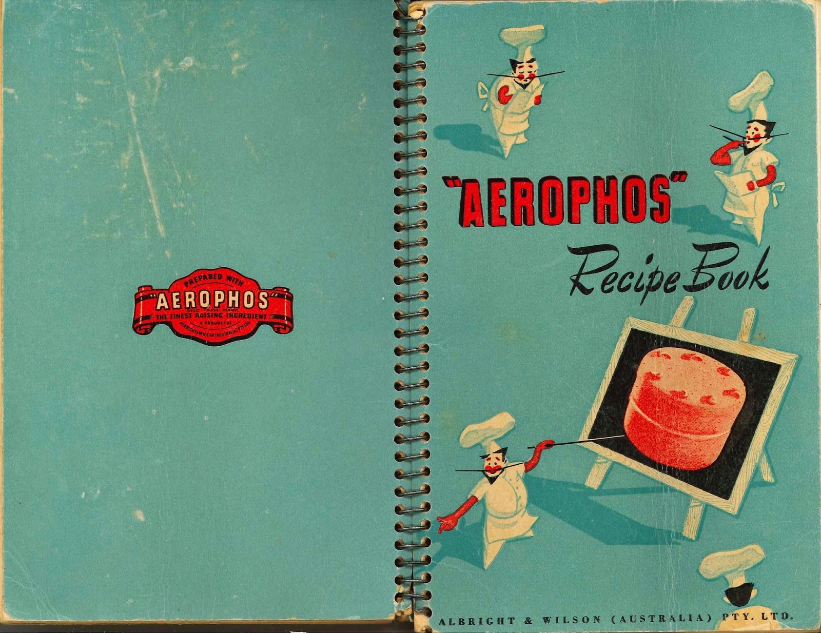 ※ AEROPHOS Recipe Book 1951 VINTAGE COOKBOOK (scans)
