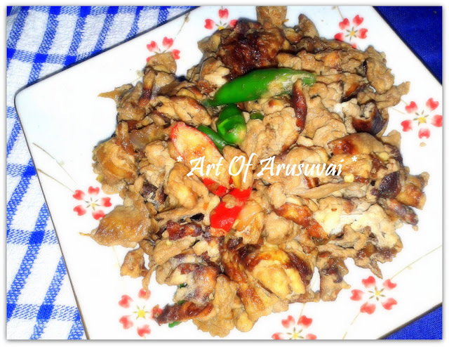 ^ SPICY SOY SAUCE EGG SCRAMBLE ^
