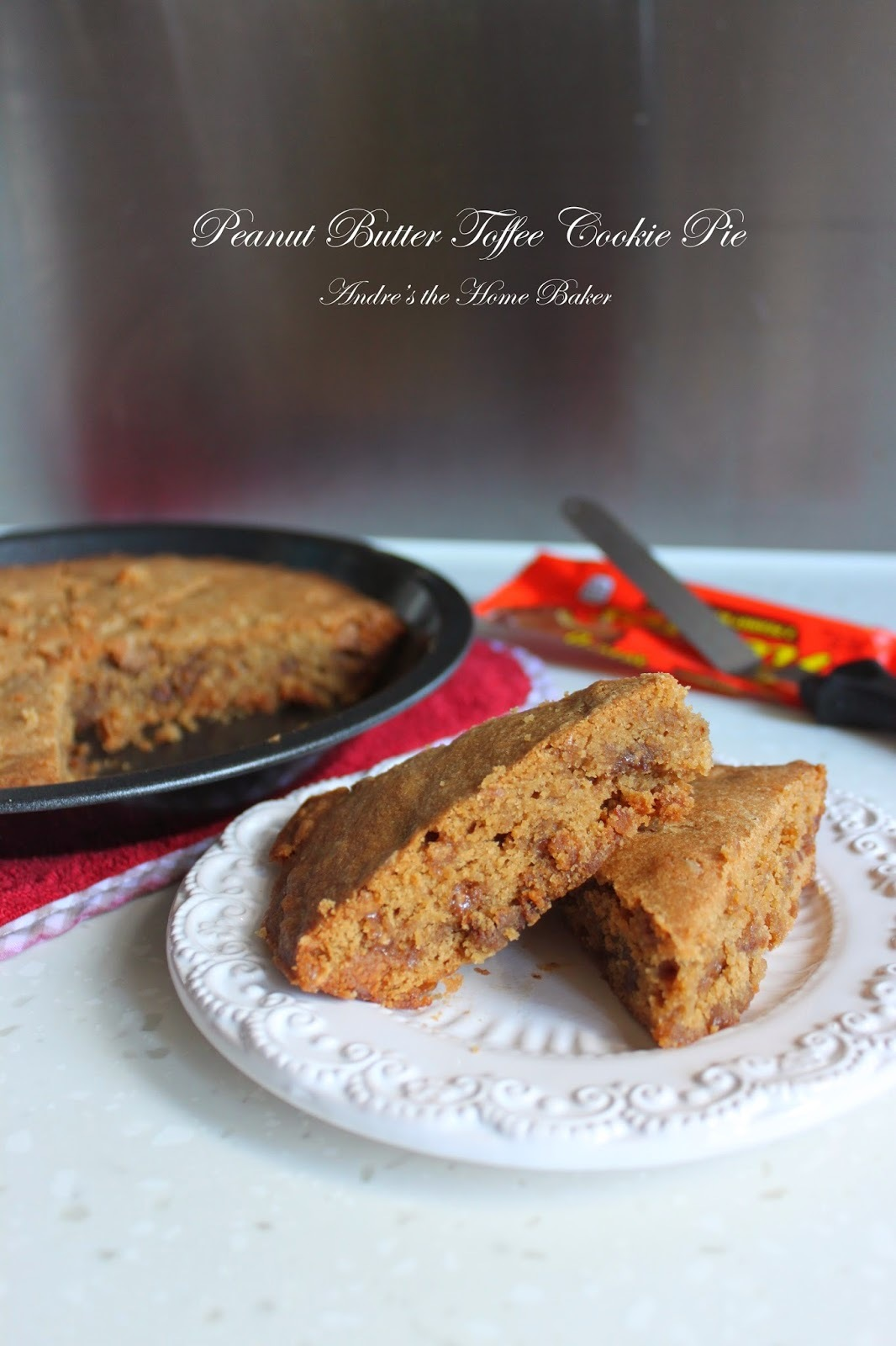 ♥ Peanut Butter Toffee Cookie Pie ♥