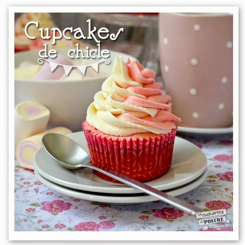 CUPCAKES BICOLORES DE CHICLE / TWO COLOURED CHEWING GUM CUPCAKES