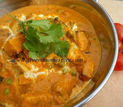 Mutter Paneer with Tikka masala