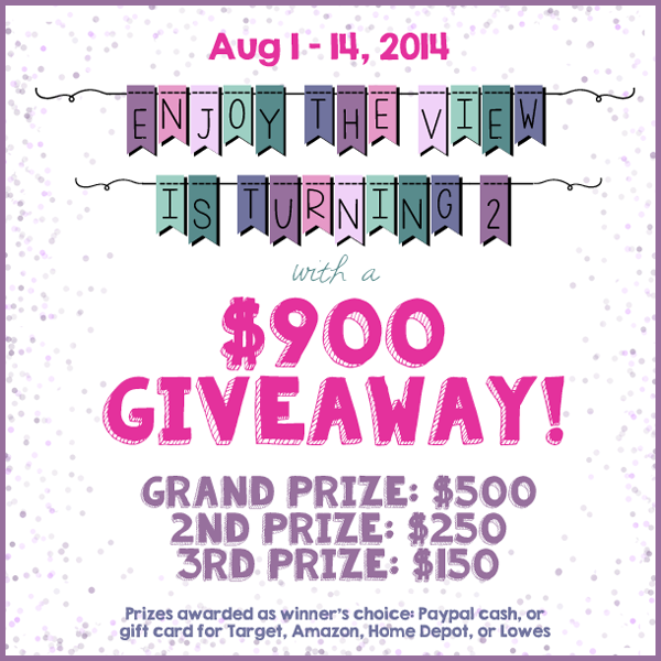 {enjoy the view} 2nd Blogiversary $900 Giveaway (ww) ends 14th August