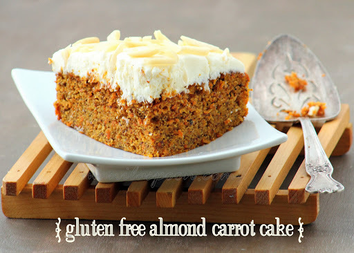 Almond Carrot Cake with Lemon Cream Cheese Frosting (Gluten-free)