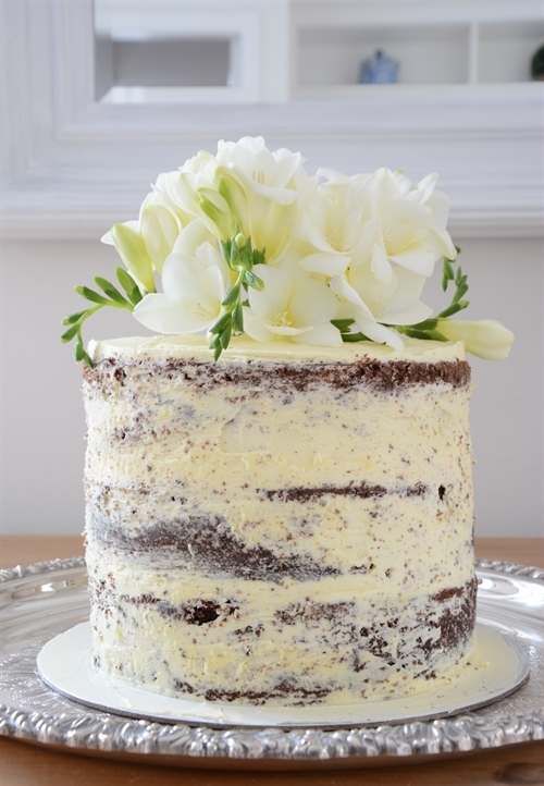 My First Attempt at a Naked Wedding Cake