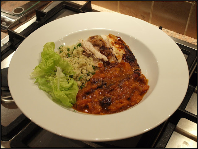 Harissa chicken with vegetable marga
