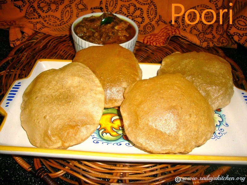 Poori Recipe / Puri Recipe /  Fried Indian Flatbread - How to make Poori