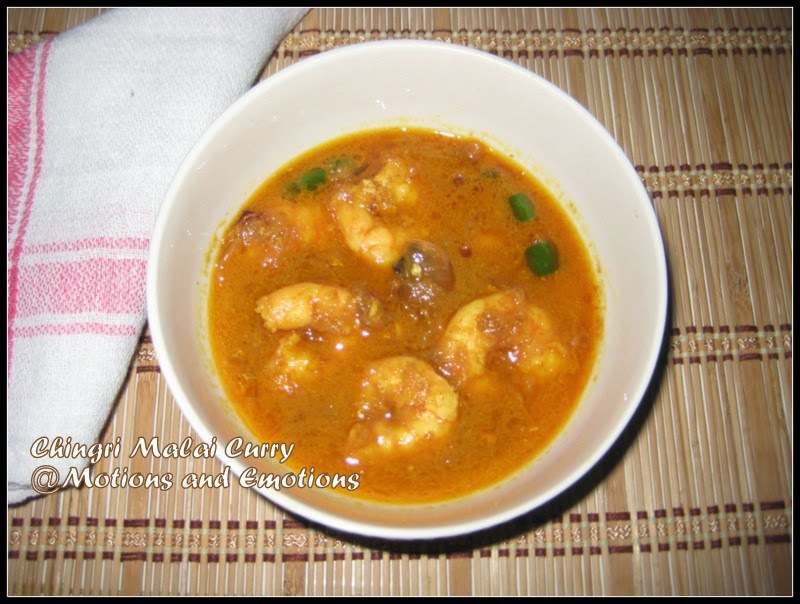Chingri Malai Curry / Prawn Malai Curry