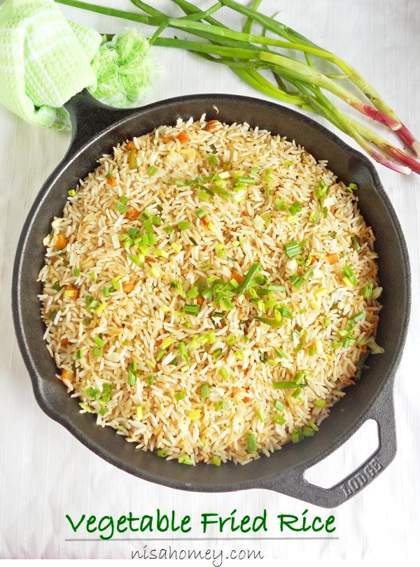 Veg Fried Rice Recipe , How To Make Vegetable Fried Rice