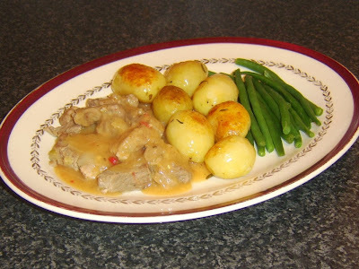 Pork Casserole with Spicy Apple Sauce