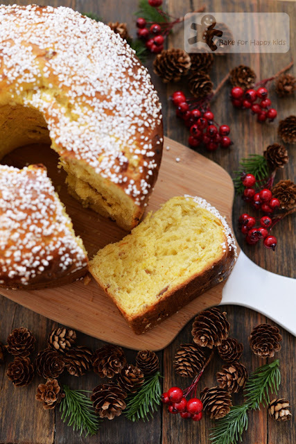 Saffron Panettone with Pearl Sugar Topping (all baked within a day)