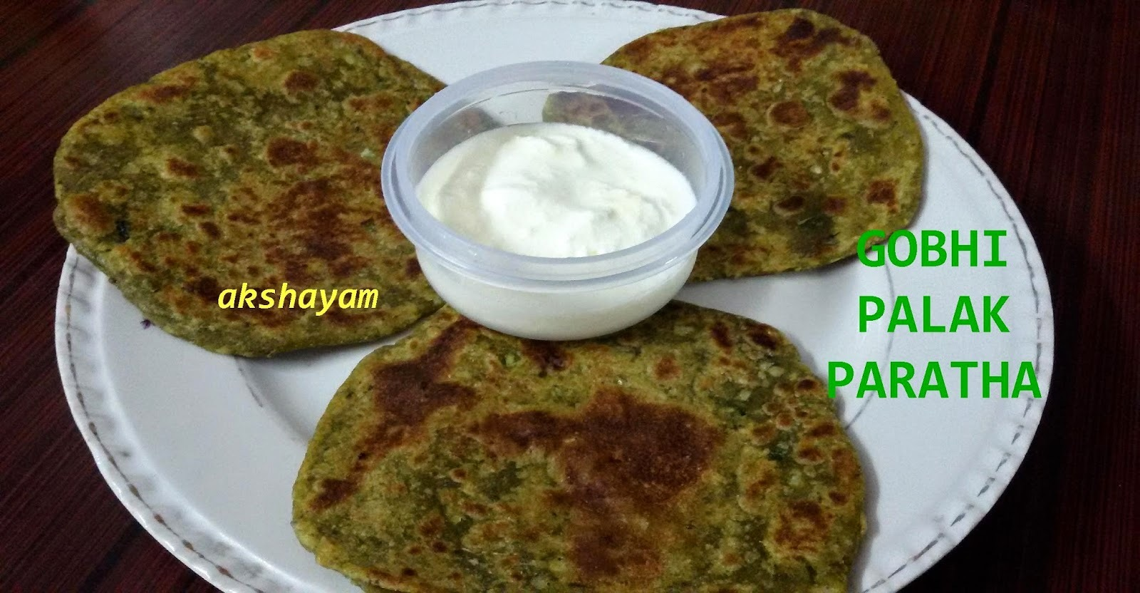 Broccoli-Palak Paratha