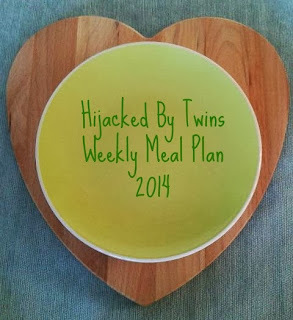 Weekly Meal Plan - Week Commencing 16th June 2014