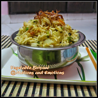 Vegetable Biriyani / Veg Biriyani