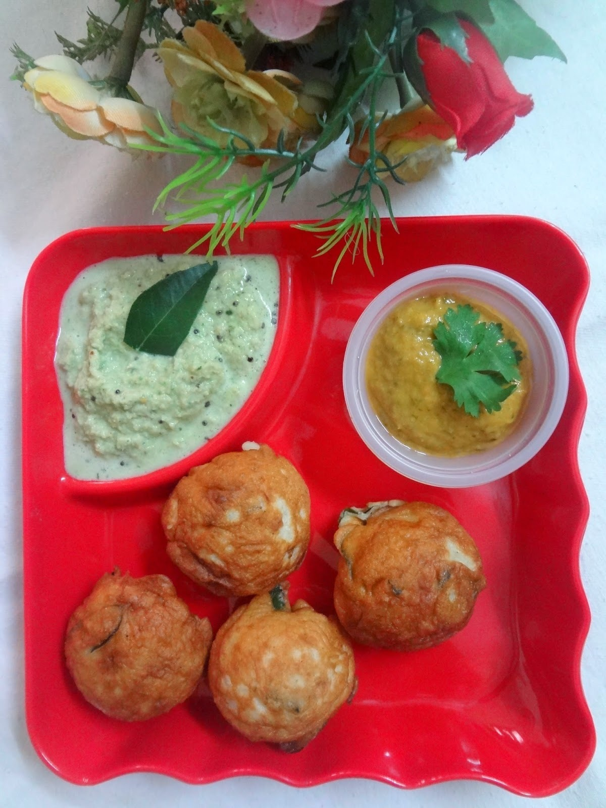 Quick medu vadas using appe pan/paniyaram pan