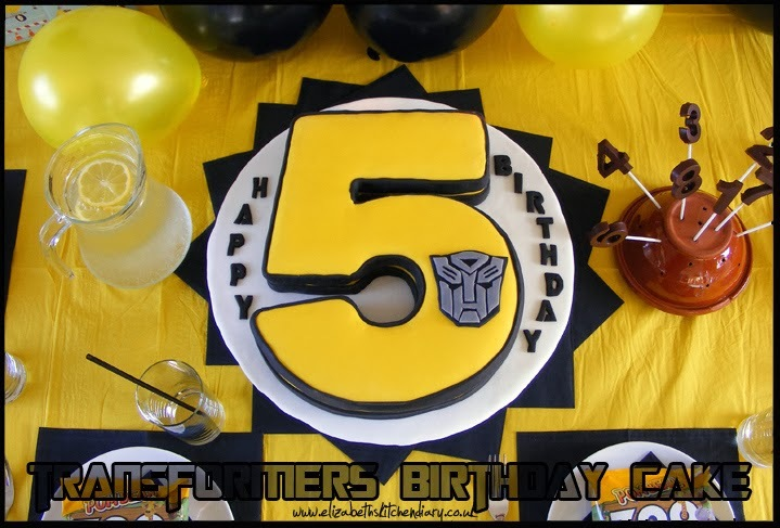 Transformers Birthday Cake & Giveaway #8