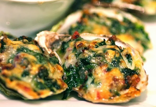Oysters Rockeffeller with Twin Toppings Recipe
