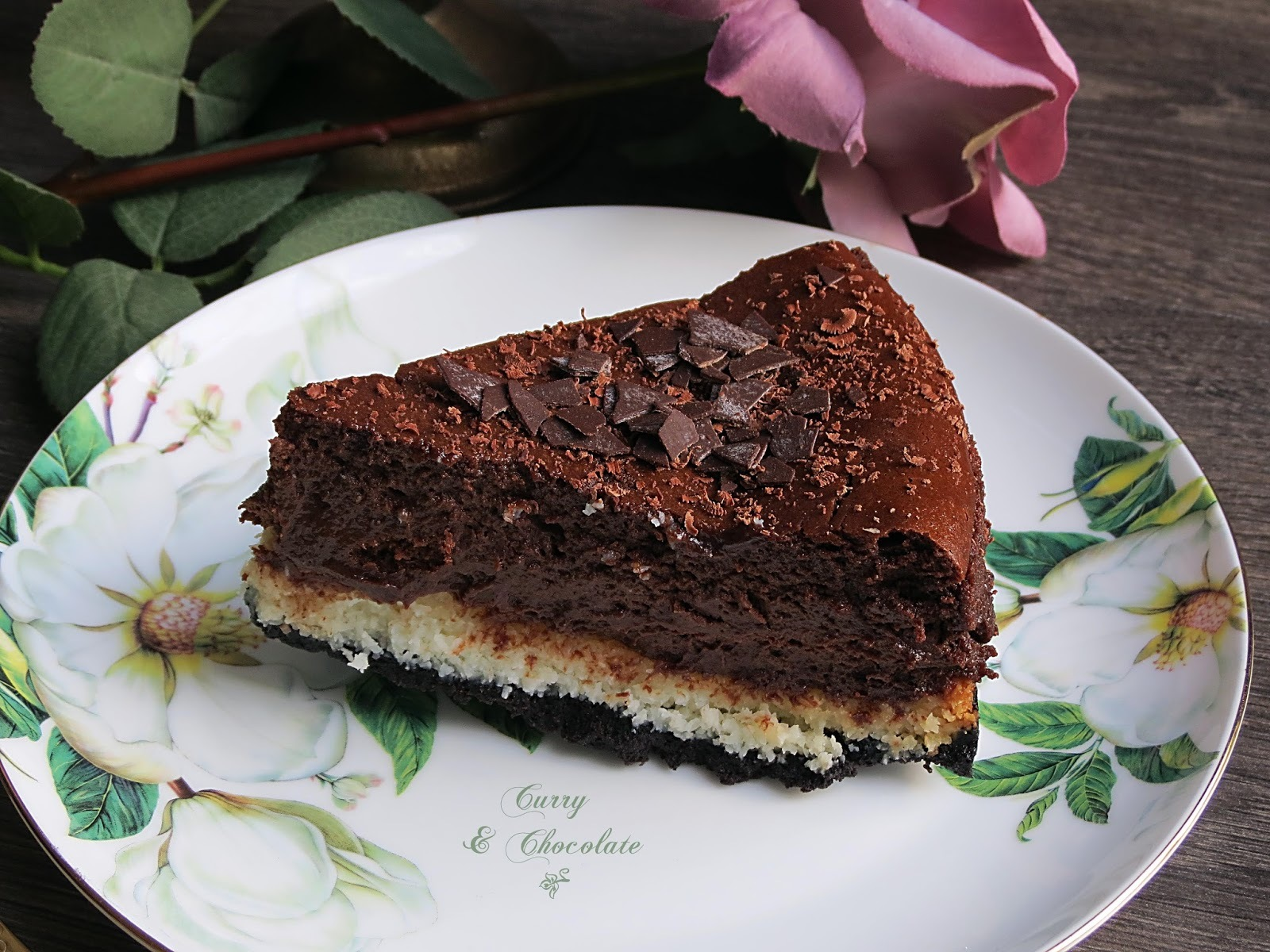 Tarta de queso con chocolate y coco – Coconut and chocolate cheesecake