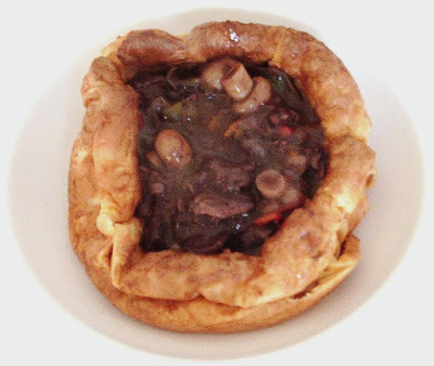 Beef Bourguignon in Yorkshire Pudding