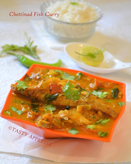 Spicy Fish  Kuzhambu / Chettinad Fish Curry :