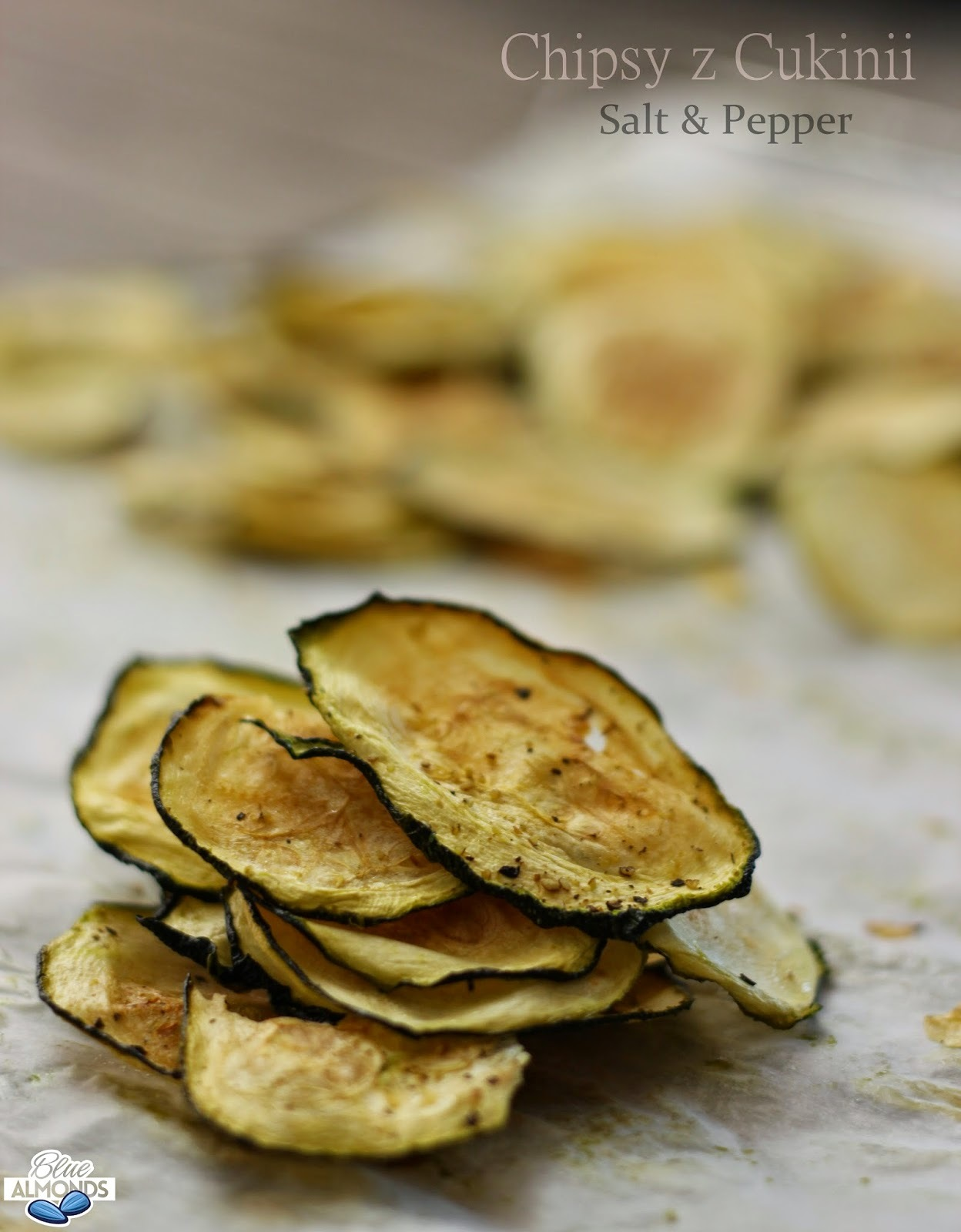 Chipsy z Cukinii Pieprz & Sól / Pepper & Salt Zucchini Chips (raw vegan)
