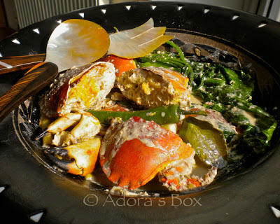 Crabs with Coconut Milk and Spinach