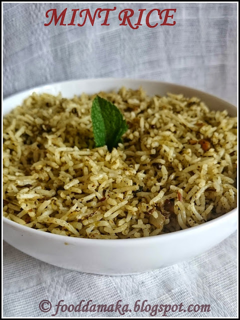 Mint Rice/Pudina Rice