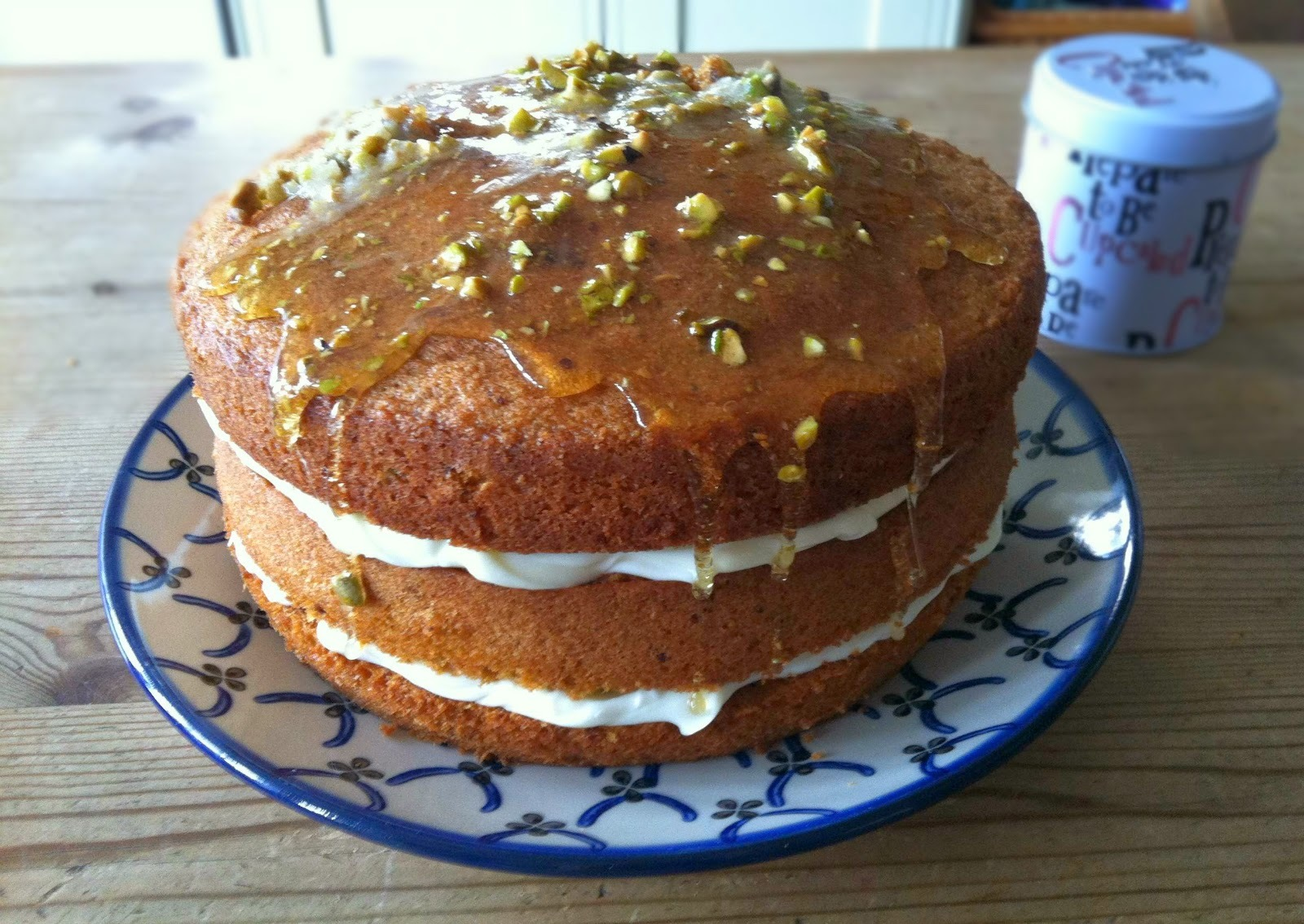 Pistachio and Vanilla Cake