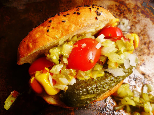 celebrate national hotdog day with a chicago dog with the works