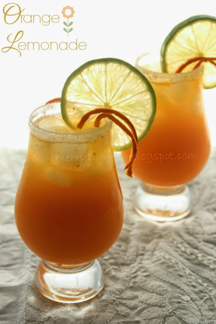 Orange Lemonade, Summer Cooler With Roasted Oranges