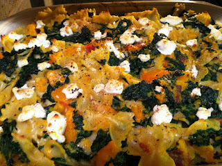 A Winter's Treat: Roasted Squash with Bacon, Kale (of course!) and Farfalle