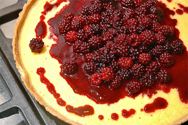 Custard Tart & Blackberry Compote