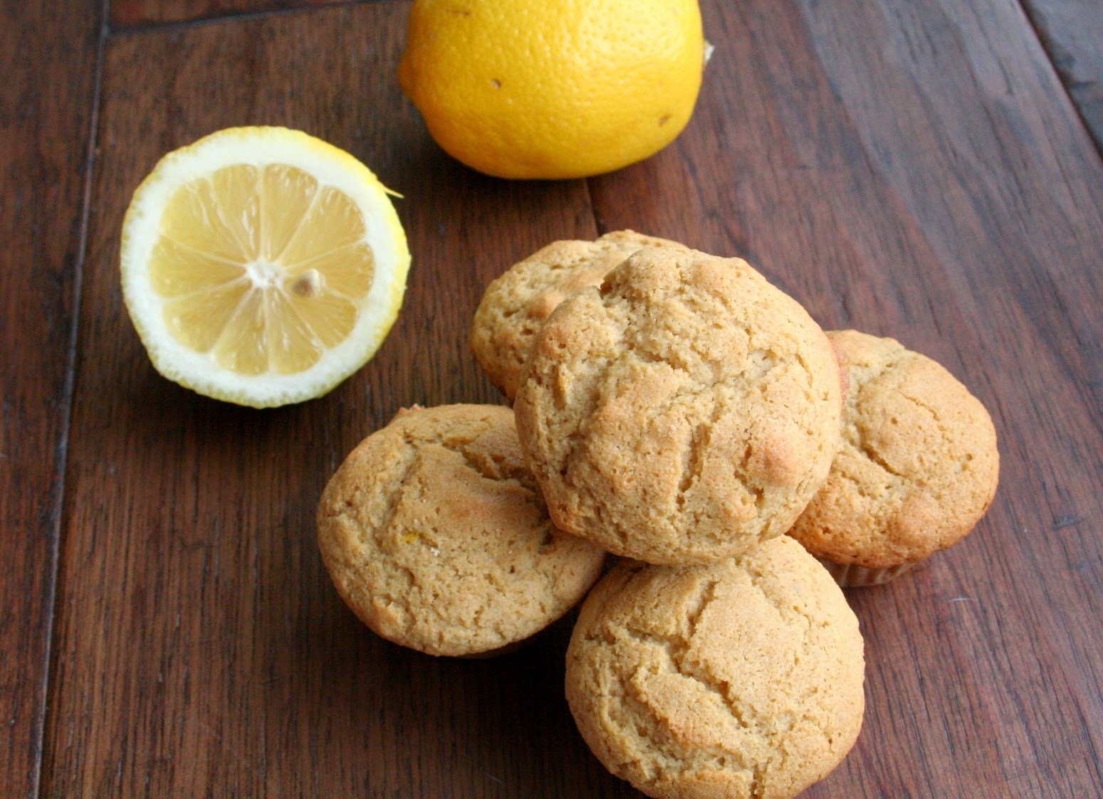 Lemon, Rose Water Mini Muffins (Dairy, Gluten, and Refined Sugar Free)